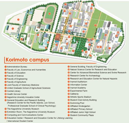 Ku Med Campus Map.Kagoshima University