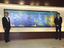 鹿児島県鳥瞰図の完成披露式を開催