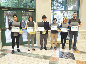 理工学研究科の大学院生3名がノースダコタ州立大学-鹿児島大学合同シンポジウムで優秀ポスター賞を受賞しました