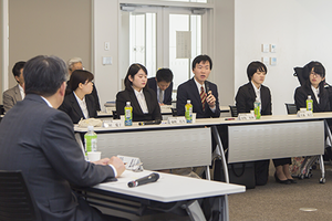 令和元年度 学長と学部卒業予定者との懇談会を実施