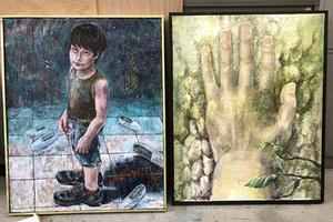 教育学部の学生が第38回南日本女流美術展で受賞