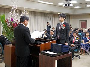 大学院連合農学研究科後期学位記授与式を挙行